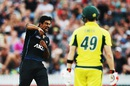 Ish Sodhi picked up the huge wicket of Steven Smith, New Zealand v Australia, 3rd ODI, Hamilton, February 8, 2016