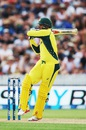 Usman Khawaja pulls during his 44, New Zealand v Australia, 3rd ODI, Hamilton, February 8, 2016