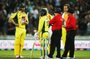 Mitchell Marsh's dismissal sparked some controversy, New Zealand v Australia, 3rd ODI, Hamilton, February 8, 2016