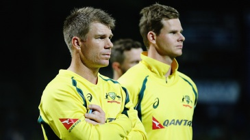 Steven Smith and David Warner look dejected after losing the series