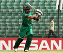 Umair Masood plays through the off side during his century, Pakistan v West Indies, Under-19 World Cup 2016, quarter-final, Fatullah, February 8, 2016