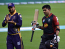 Ahmed Shehzad applauds Umar Akmal following his 40-ball 93, Lahore Qalandars v Quetta Gladiators, Pakistan Super League, Dubai, February 8, 2016