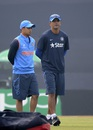 Ishan Kishan and Rahul Dravid have a chat, India v Sri Lanka, Under-19 World Cup 2016, Mirpur