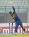 Damitha Silva sends one down,  India v Sri Lanka, Under-19 World Cup 2016, Mirpur