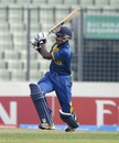 Kamindu Mendis slogs one to the leg side, India v Sri Lanka, Under-19 World Cup 2016, Mirpur