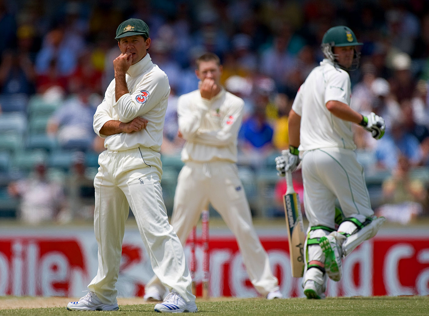 In 2008, a target of 414 was tackled with ease by South Africa in Perth, breaking a world record. Four years earlier, up against a similar stiff target in a Test in Durban, they had played it safe