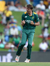 David Wiese celebrates the wicket of Eoin Morgan, South Africa v England, 3rd ODI, Centurion, February 9, 2016