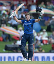 Joe Root celebrates his seventh ODI hundred, South Africa v England, 3rd ODI, Centurion, February 9, 2016