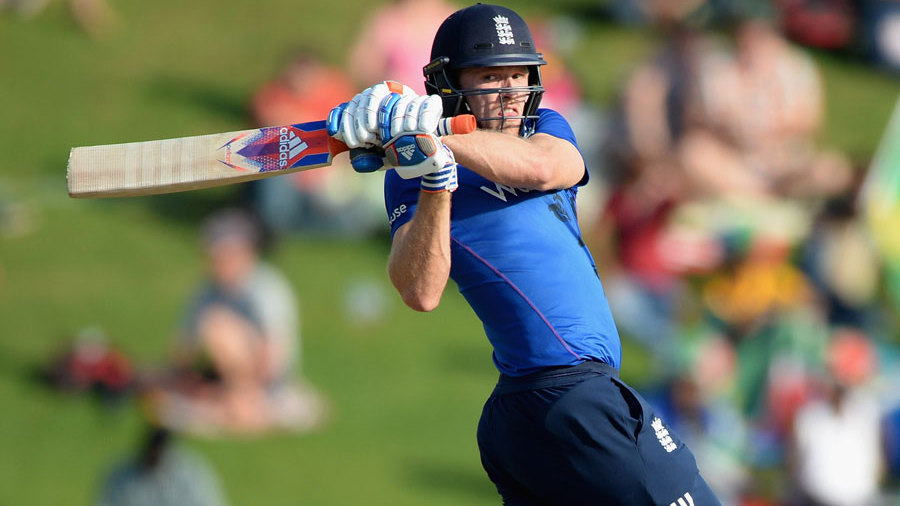 ...but David Willey and Adil Rashid struck a six apiece to help England to 318 for 8