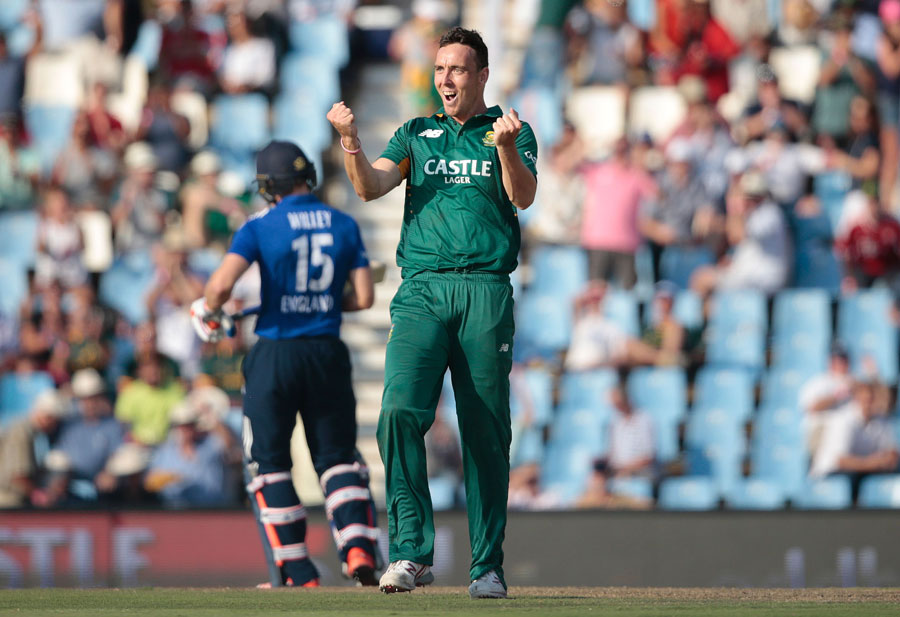 Kyle Abbott picked up two in two balls, including Stokes...
