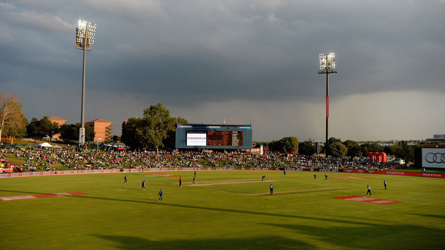 South Africa launched their run-chase under the floodlights