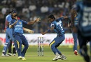 Dushmantha Chameera celebrates a wicket, India v Sri Lanka, 1st T20, Pune, February 9, 2016