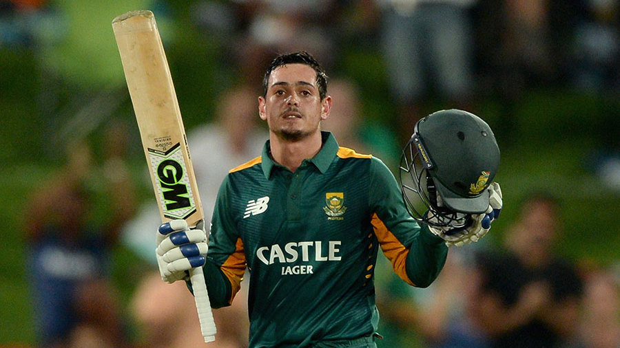 De Kock brought up his tenth ODI hundred as South Africa eased towards their target