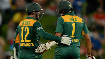 Quinton de Kock and Hashim Amla put on 239 for the first wicket