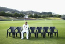 David Warner waits for his team-mates for the team photo at Basin Reserve, Wellington, February 10, 2016