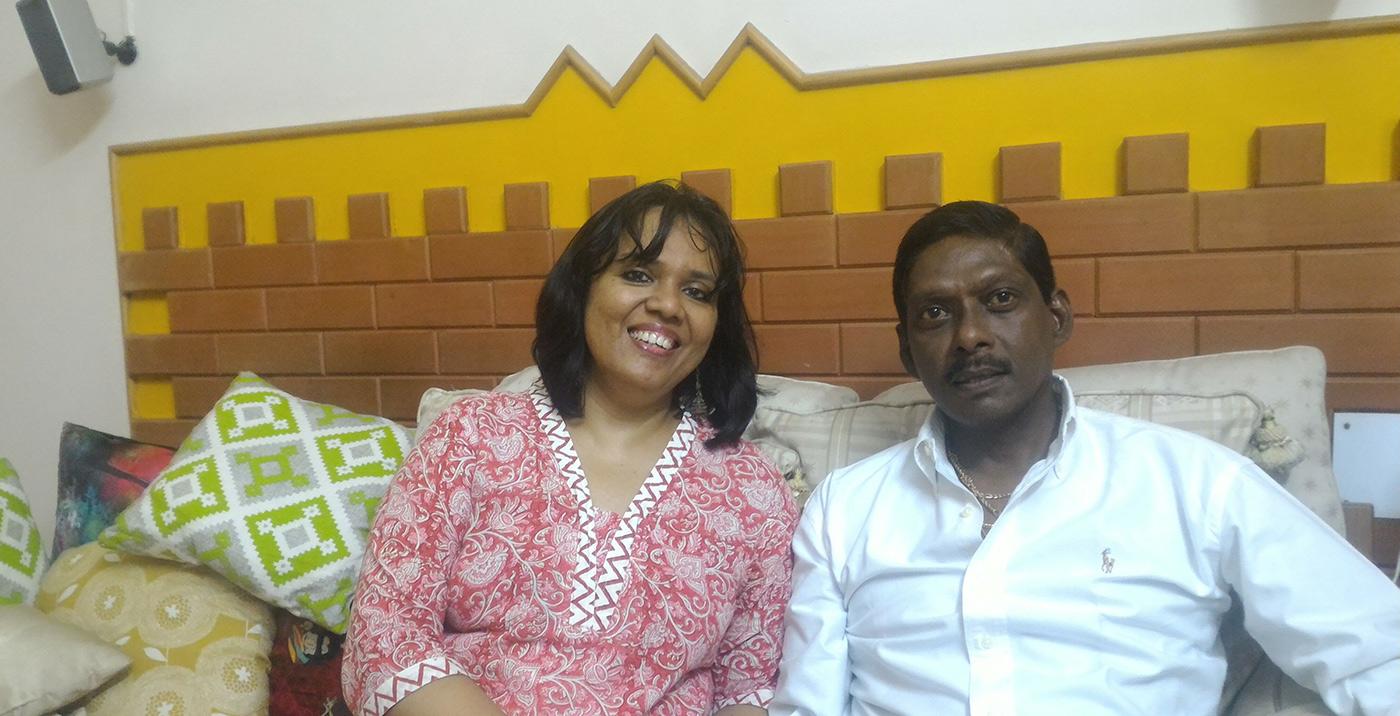 Laxman Sivaramakrishnan with his wife