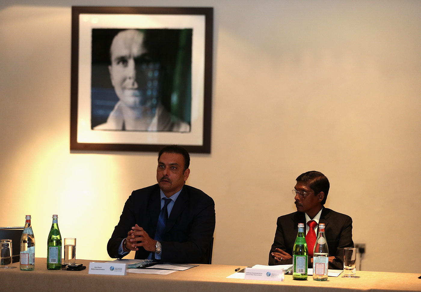 With old mate Shastri at an ICC Cricket Committee meeting in 2013