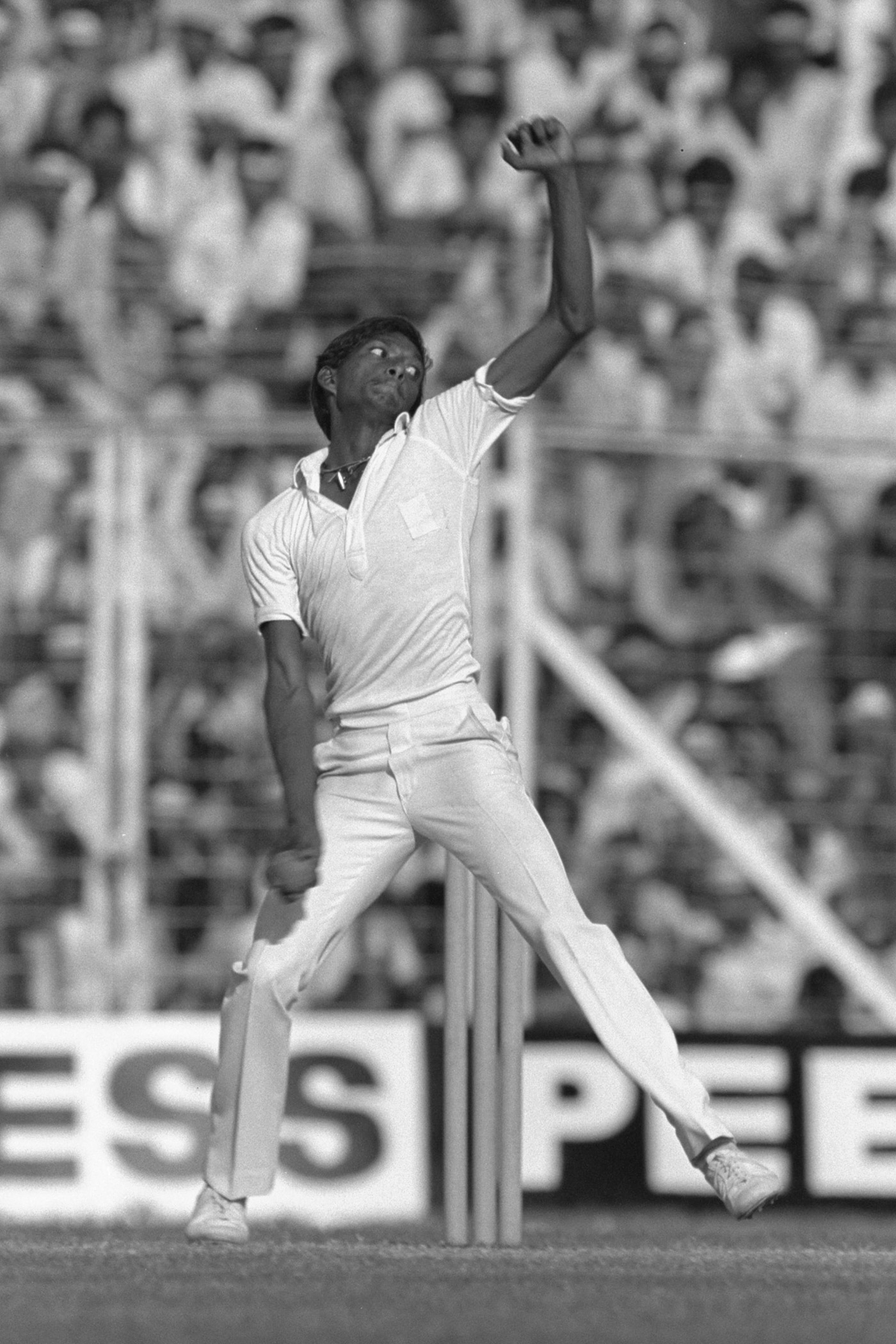 Siva took 12 for 181 in the rout of England in Bombay, 1984