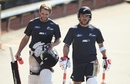 Brendon McCullum and Kane Williamson walk to the nets at Basin Reserve, Wellington, February 11, 2016