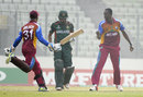 Ryan John exults after a wicket, Bangladesh Under-19s v West Indies Under-19s, Under-19 World Cup, semi-final, Dhaka, February 11, 2016