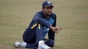 Tillakaratne Dilshan in a pensive mood during training