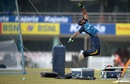Niroshan Dickwella throws himself off his feet during practice, Ranchi, February 11, 2016