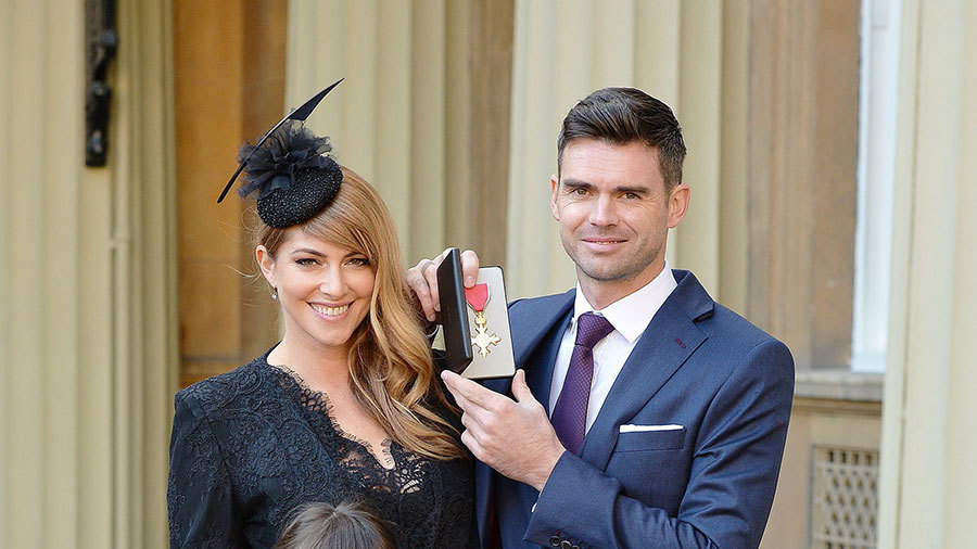 James Anderson receives OBE for services to England ...