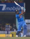 Rohit Sharma powers a drive down the ground, India v Sri Lanka, 2nd T20I, Ranchi, February 12, 2016