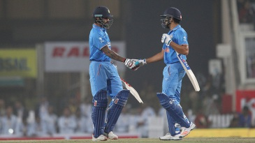 Rohit Sharma and Shikhar Dhawan added a 75-run opening stand