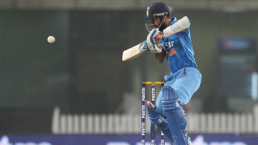 Ajinkya Rahane guides the ball towards third man