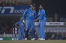 MS Dhoni and Ravindra Jadeja share a laugh , India v Sri Lanka, 2nd T20I, Ranchi, February 12, 2016