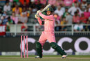 Quinton de Kock made 27 before being bowled by Ben Stokes, South Africa v England, 4th ODI, Johannesburg, February 12, 2016