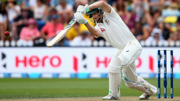 Adam Voges plays a pleasing drive during his century