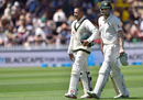 Usman Khawaja and Adam Voges shared a fourth-wicket partnership fo 168, New Zealand v Australia, 1st Test, Wellington, 2nd day, February 13, 2016
