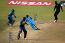 Rahul Batham attempts a run-out, India v Sri Lanka, Under-19 World Cup 2016, Mirpur