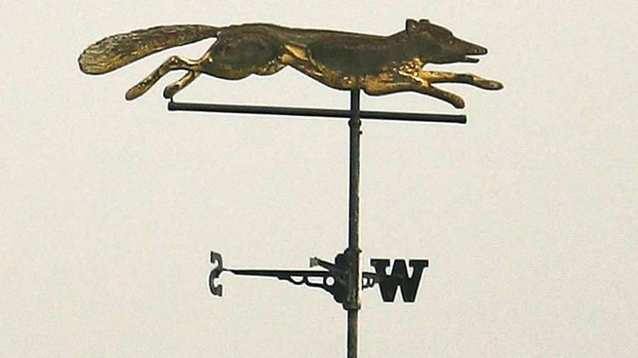 The weather vane at Grace Road symbolising the fox