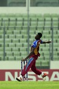 Alzarri Joseph in his delivery stride, India v West Indies, final, Under-19 World Cup, February 14, 2016