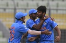 Avesh Khan dismissed Gidron Pope early, India v West Indies, final, Under-19 World Cup, Mirpur, February 14, 2016