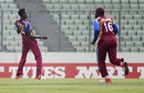 Shamar Springer celebrates a wicket in trademark fashion, India v West Indies, final, Under-19 World Cup, Mirpur, February 14, 2016