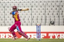 Shimron Hetmyer plays a cut, India v West Indies, final, Under-19 World Cup, Mirpur, February 14, 2016