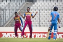 Shamar Springer brings out the chest roll after dismissing Armaan Jaffer, India v West Indies, final, Under-19 World Cup, Mirpur, February 14, 2016