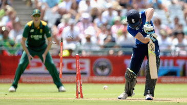 Jos Buttler had his leg stump plucked out of the ground