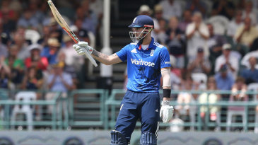 Alex Hales recorded his second ODI hundred