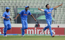 Mayank Dagar takes off on a celebratory run after a wicket, India v West Indies, Under-19 World Cup 2016, final, Mirpur, February 14, 2016