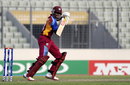 Keacy Carty steers the ball on the off side during his unbeaten 52, India v West Indies, Under-19 World Cup 2016, final, Mirpur, February 14, 2016