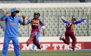 Keacy Carty and Keemo Paul celebrate after getting the winning runs, India v West Indies, Under-19 World Cup 2016, final, Mirpur, February 14, 2016