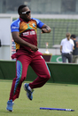 Gidron Pope breaks into a jig after West Indies' victory, India v West Indies, Under-19 World Cup 2016, final, Mirpur, February 14, 2016