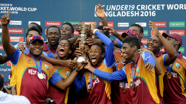 The West Indies side is elated after getting their hands on the trophy