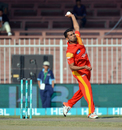 Imran Khalid was the most successful bowler for Islamabad United with returns of 2 for 19, Islamabad United v Karachi Kings, Pakistan Super League 2016, Sharjah, February 14, 2016