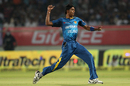 Dushmantha Chameera dismissed Rohit Sharma for 13, India v Sri Lanka, 3rd T20I, Visakhapatnam, February 14, 2016